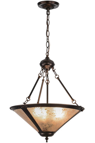 "Lodge Ceiling Lights Meyda 155459 - 17""W Van Erp Inverted Pendant Light"