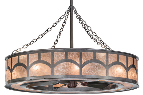 "Farmhouse Style Ceiling Lights Meyda 156012 - 45""W Mission Hill Top W/Up and Downlights Chandel-Air"