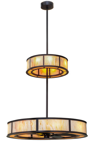 "Lodge Ceiling Lights Meyda 156408 - 56""W Smythe Craftsman 2 Tier LED Chandel-Air"