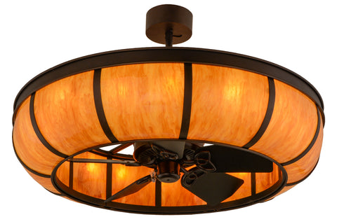 "Log Cabin Style Ceiling Lights Meyda 156466 - 44""W Prime Dome Chandel-Air"