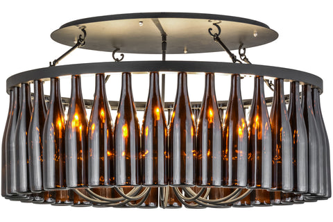 "Modern Country Ceiling Lights Meyda 158309 - 38""W Tuscan Vineyard Estate 36 Wine Bottle Chandelier"