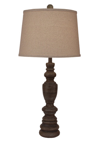 Rustic Log Cabin Style Table Lamps - Greywood Multi Ringed Candlestick Table Lamp