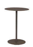 Rustic Country Accent Table - Weathered Pale Grey Drink Table w/Oval Top