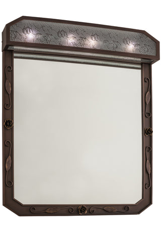 "Modern Lodge Style Novelty Lamps And Accessories Meyda 160047 - 30""W Arabesque Lighted Vanity Mirror"