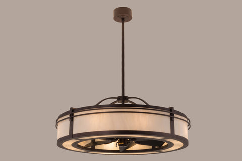 "Lodge Style Ceiling Lights Meyda 160883 - 45""W Sargent W/Uplights Chandel-Air"