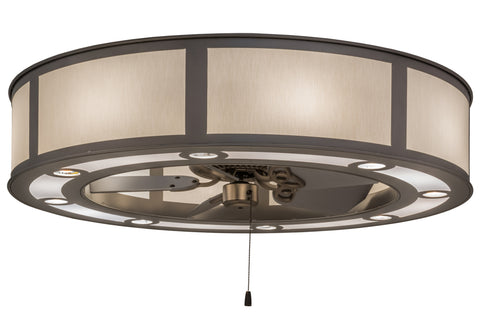 "Modern Country Style Ceiling Lights Meyda 161547 - 45""W Smythe Craftsman Chandel-Air"