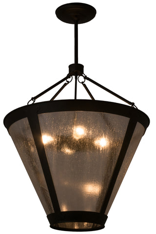 "Modern Lodge Style Ceiling Lights Meyda 161879 - 28""W Van Erp Inverted Pendant Light"