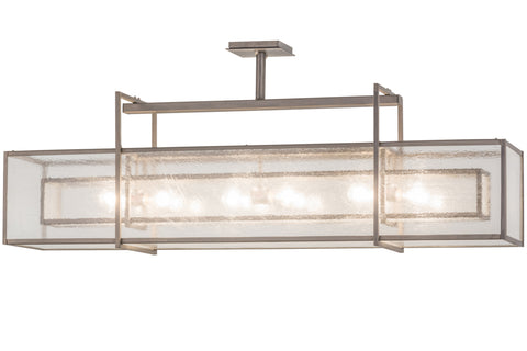 "Rustic Cabin Style Ceiling Lights Meyda 161946 - 54""L Nelson Oblong Pendant Light"