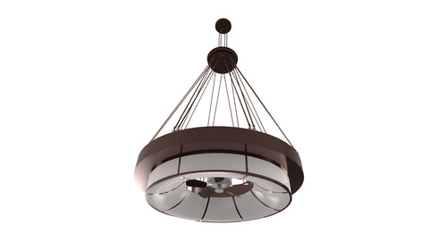 "Modern Log Cabin Style Ceiling Lights Meyda 161953 - 72""W Cilindro Ventura Chandel-Air"