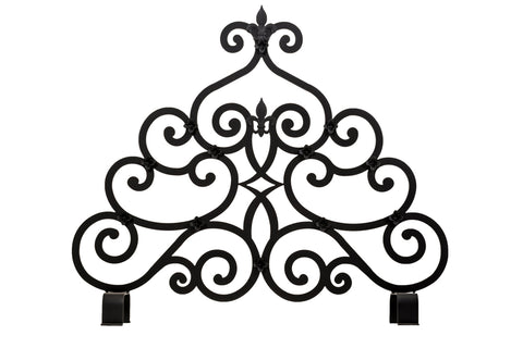 "Modern Country Fireplace Screens Meyda 162817 - 36""W X 32""H Fleur-de-lis Fireplace Screen"