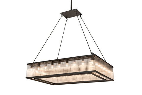 "Rustic Lodge Style Ceiling Lights Meyda 164300 - 60""L Marquee Oblong Pendant Light"