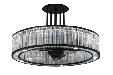 "Modern Lodge Style Ceiling Lights Meyda 165931 - 36""W Marquee Gural Chandel-Air"