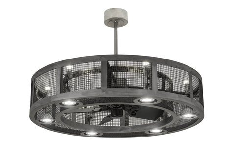 "Modern Lodge Style Ceiling Lights Meyda 167631 - 48""W Paloma Golpe Chandel-Air"