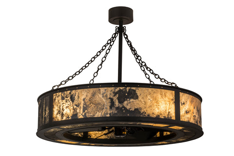 "Modern Farmhouse Style Ceiling Lights Meyda 168462 - 44""W Smythe Quarrystone Chandel-Air"