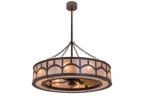 "Lodge Ceiling Lights Meyda 169156 - 44""W Mission Hill Top Chandel-Air"