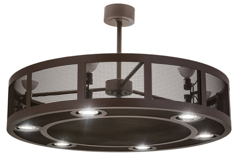"Modern Cabin Ceiling Lights Meyda 169667 - 48""W Paloma Golpe Chandel-Air"
