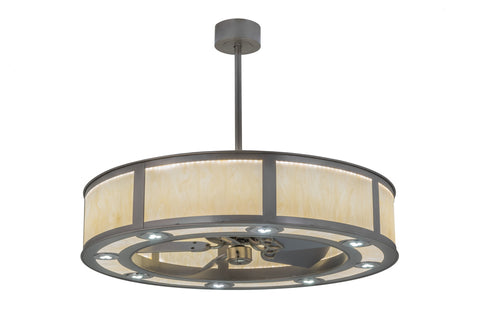 "Modern Farmhouse Style Ceiling Lights Meyda 170132 - 45""W Smythe Craftsman Chandel-Air"