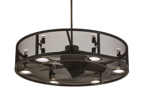 "Modern Cabin Style Ceiling Lights Meyda 171612 - 48""W Paloma Golpe Chandel-Air"