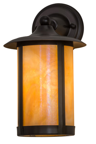 "Modern Country Style Outdoor Lighting Meyda 174522 - 8""W Fulton Prime Solid Mount Wall Sconce"