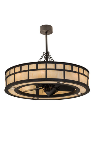 "Rustic Farmhouse Style Ceiling Lights Meyda 174574 - 45""W ""T"" Mission Chandel-Air"
