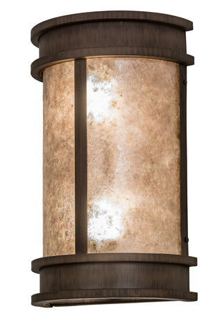 "Modern Lodge Outdoor Lighting Meyda 174791 - 10""W Wyant Pocket Lantern Wall Sconce"