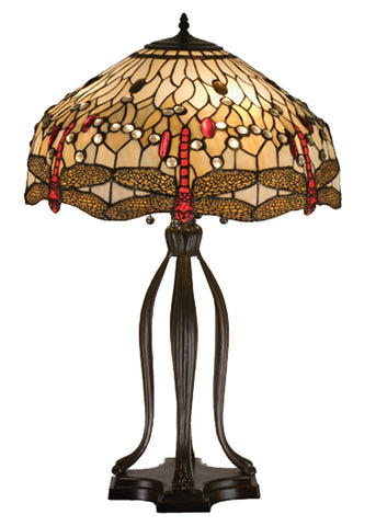 "Rustic Table Lamps Meyda 17500 - 30.5""H Tiffany Hanginghead Dragonfly Table Lamp"