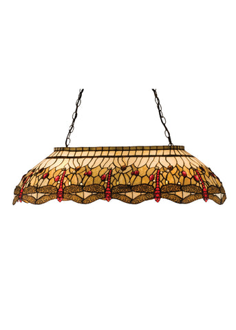 "Lodge Ceiling Lights Meyda 17508 - 40""L Tiffany Hanginghead Dragonfly Oblong Pendant Light"