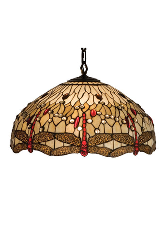 "Farmhouse Style Ceiling Lights Meyda 17544 - 22""W Tiffany Hanginghead Dragonfly Pendant Light"
