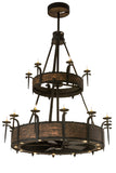 "Country Style Ceiling Lights Meyda 176953 - 62""W Costello 18 LT Two Tier Chandel-Air"