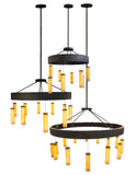 Modern Country Ceiling Lights Meyda 177369 - Cilindro Universo 3 Ring Pendant Light