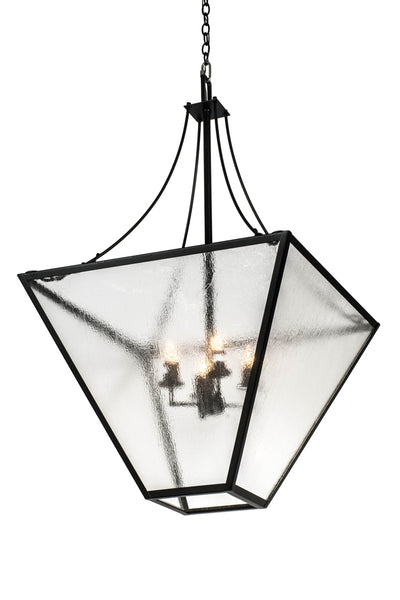 "Rustic Farmhouse Style Ceiling Lights Meyda 177948 - 32""SQ TAPERED Pendant Light"