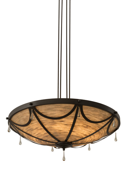 "Rustic Lodge Style Ceiling Lights Meyda 177956 - 48""W Carousel Inverted Pendant Light"