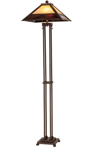 "Lodge Floor Lamps Meyda 179148 - 62.5"" Mission Prime Floor Lamp"