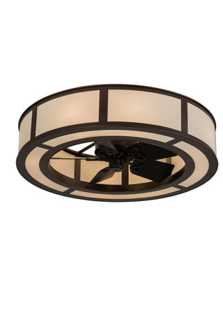 "Modern Country Style Ceiling Lights Meyda 179421 - 45""W Smythe Craftsman Chandel-Air"