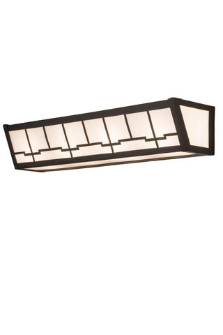"Modern Cabin Style Wall Sconce Lighting Meyda 179495 - 24""W Bungalow Vanity Light"