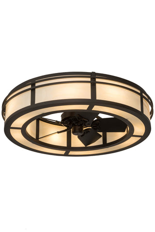 "Modern Cabin Ceiling Lights Meyda 181177 - 45""W Sargent Chandel-Air"