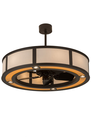 "Country Style Ceiling Lights Meyda 182935 - 44.5""W Maple Wood Chandel-Air"