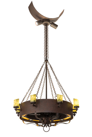 "Rustic Ceiling Lights Meyda 186779 - 54""W Parnella Chandel-Air"