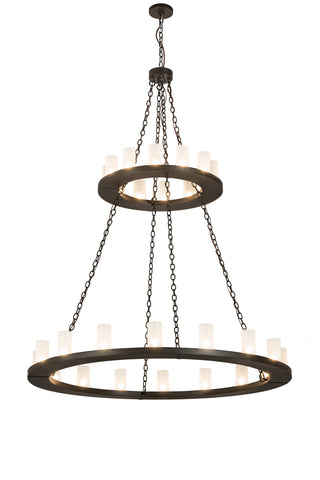 "Modern Cabin Style Ceiling Lights Meyda 187925 - 60""W Loxley 28 LT Two Tier Chandelier"