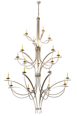 "Lodge Style Ceiling Lights Meyda 188749 - 74""W Corfe Chandelier"