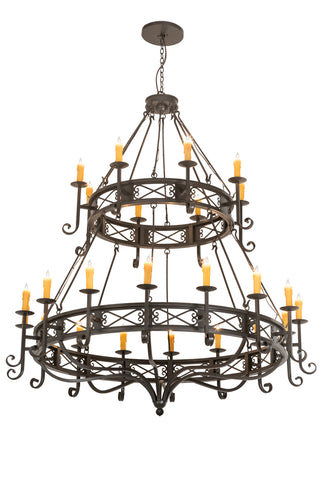 "Modern Lodge Style Ceiling Lights Meyda 190675 - 72""W Gina 24 LT Chandelier"