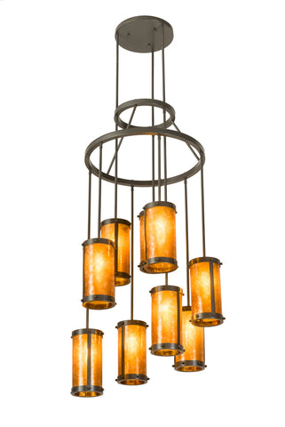 "Rustic Farmhouse Style Ceiling Lights Meyda 190704 - 30""W Cartier 9 LT Chandelier"