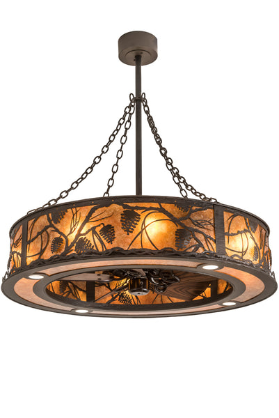 "Modern Lodge Style Ceiling Lights Meyda 191879 - 45"" Whispering Pines Chandel-Air"