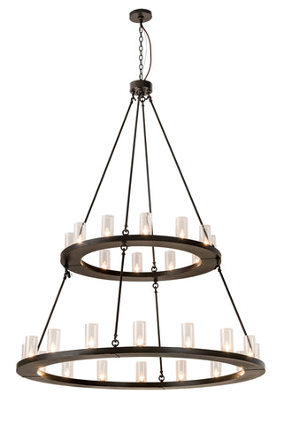 "Modern Country Style Ceiling Lights Meyda 192461 - 60""W Loxley 28 LT Two Tier Chandelier"