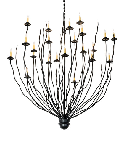 "Country Style Ceiling Lights Meyda 193565 - 54"" Sycamore 22 LT Chandelier"