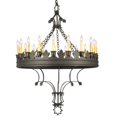 "Modern Farmhouse Style Ceiling Lights Meyda 19847 - 36.5""W Seville 19 LT Chandelier"