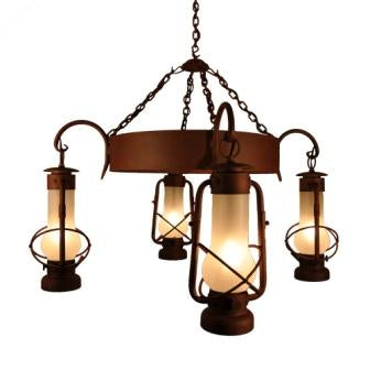 Farmhouse Style Lighting - Steel Partners Lighting 2000 - Farmhouse Chandelier - Decatur