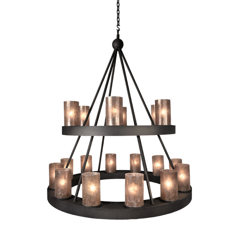 Rustic Style Lighting - Steel Partners Lighting 2001 - Farmhouse Chandelier - Montecito