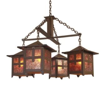 Lodge Style Lighting - Steel Partners Lighting 2008 - Farmhouse Chandelier - Hillcrest