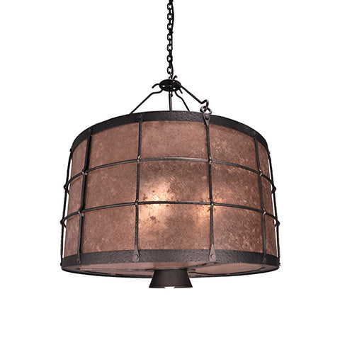 Modern Cabin Lighting - Steel Partners Lighting 2039-2 - Rustic Farmhouse Chandelier - Ferron Forge - Down Light